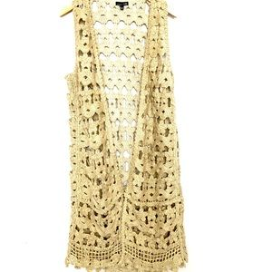 RXB  Beige Colored Long Sleeveless Sweater Vest